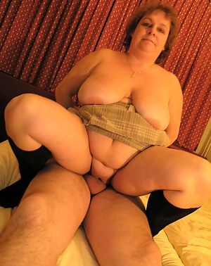 This big titted mature slut gets her holes filled