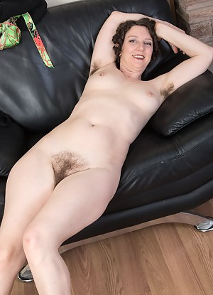42 year old Artemesia from AllOver30 spreads her hairy ass in here