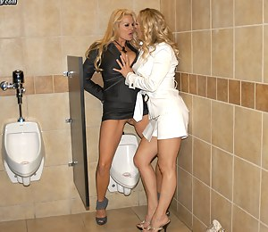 Kelly and Tanya subject their captured cock to multiple orgasms and smothering by tits.