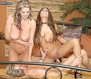Kelly fucks Alisandra with big dildo till she just can't take it anymore and begs for a real cock.
