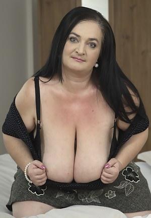 Big breasted mature BBW getting it POV style