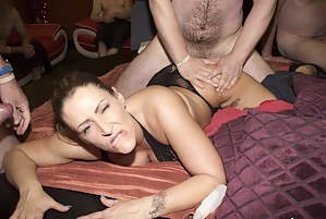 These girls love to come and get fucked by as many guys as they can. They love the thrill of many hard cocks, hard fucks and plenty of cum