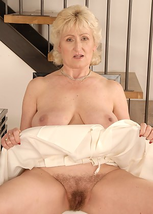 55 year old Marta from Rumburk shows her mature hairy pussy