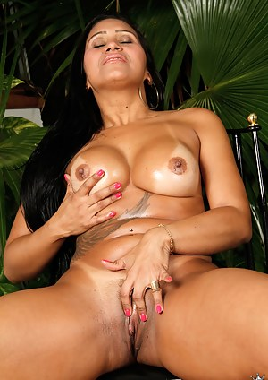 Sweet madam loves touching her big tits and practicing sensual masturbation. She is also playing with her lover's cock until getting jizzed on.