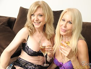 So I am here at Christian's house with Nina Hartley and we are