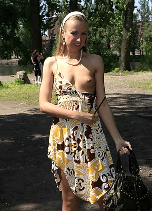 Julia loves being watched by complete strangers. See her get her big hairy pussy out in the public park. The warm sun feels so good on her skin...