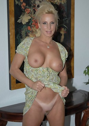 Enjoy watching older blonde masturbating her sexy holes and massaging her big boobs. You will also meet sensual brunette showing solo skills as well.