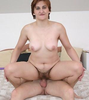 Mature slut sucks cock and gets laid