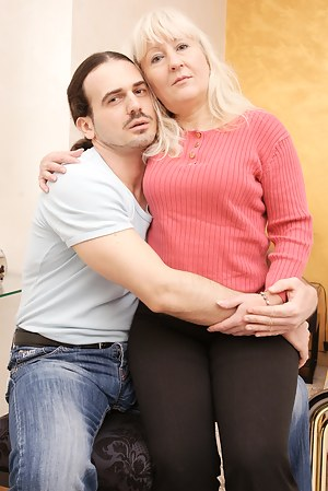 Naughty housewife playing with her boyfriend