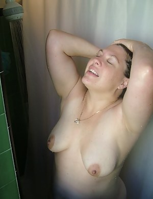 I was in the shower just washing up and relaxing and enjoying the time alone so I thought as I washed my body I could he