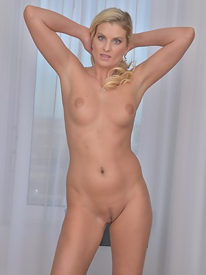 33 year old Samantha K from AllOver30 rocking naked at her desk