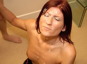 Gorgeous Russian amateur babe Anastasia always loves a facial and had taken plenty of facials back home. So she decided to come to the UK to the HOME of facial cumshots to see how UK cocks compare! She loved it, of course!