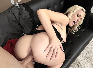 Juicy lady is taking off her red skirt and being banged by her lover on camera. She is also presenting him with sweet oral sex session.
