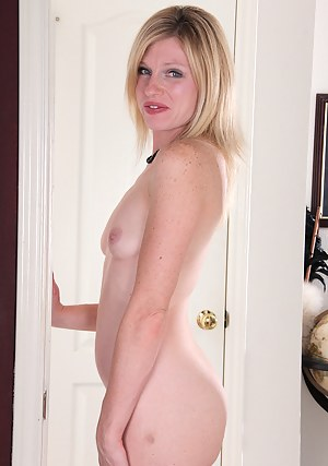 Blonde and elegant 36 year old Tommi shows off her tight mature body