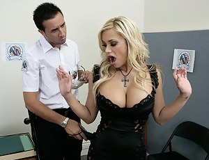 We salute this hard-working guy, he was honest enough to actually do a proper body search. Now she's getting detained and ass-banged.