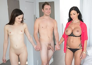 This mom is still in the game, so she is sharing her daughter's boyfriend's cock with her. The ladies are feeling big cock into their lovely holes and going mad.