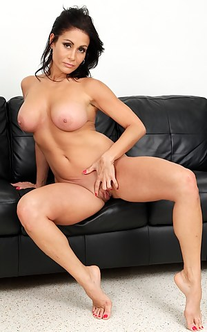 Big breasted MILF Chloe Santos toying her twat.
