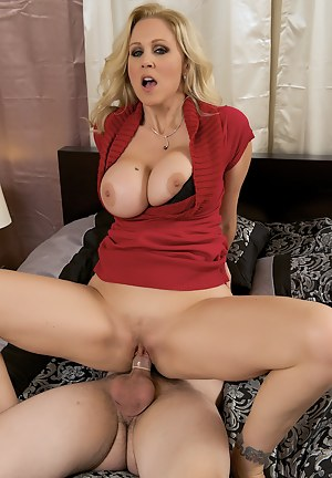 Julia Ann and her husband are looking to spice up their sex life. And since Julia's husband loves watching her getting pounded by other men, he decides to call over his best drinking buddy Ralph to fuck her with. The two swinging deviants pass Julia aroun