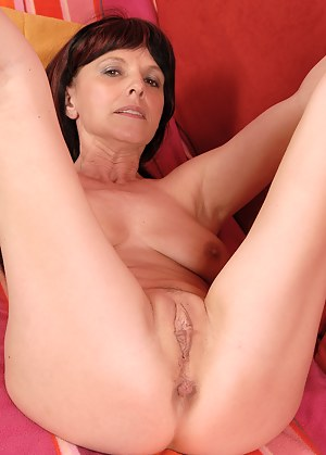 49 year old Juliette steals the show in her sexy black lingeries