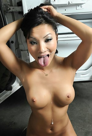 A stunning Asian chick got stranded, had to beg for someone to give her a ride. The guy was driving a windowless van so you know what's about to happen.