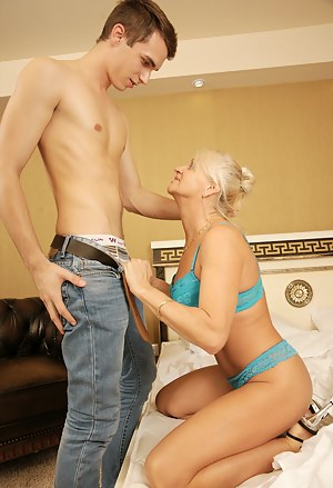 Horny housewife having sex with her toy boy
