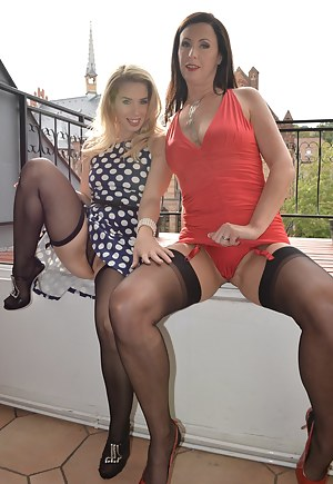 Two sexy sweeties first licking pussies and then a cock