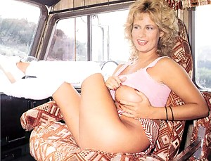 Blonde and big titted seventies lady has hot sex in a bus