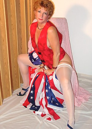 Devlynn showing her true colors wrapped in all kinds of RED, WHITE and BLUE.