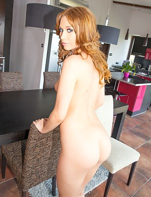 Penetrating her ass hole with big glass dildo is the best way for this redhead chick to start great sex. Her lover is punishing her with passion.