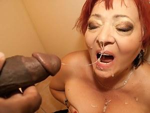 Hot grannie loves big cock