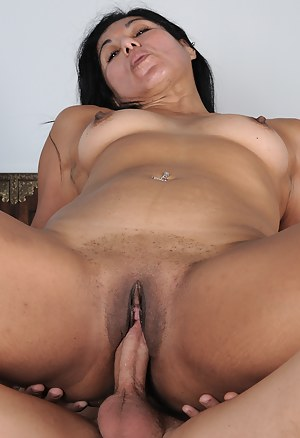 Exotic 43 year old Estrella Jane takes a cock in her mouth and box