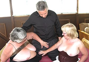 Threesome sex as GrandmaLibby teams up with her bi-sexual friend Chloe to enjoy a handsome, and horny man.  I am sure he