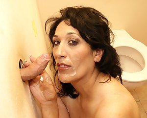 Horny mature Bernice is getting ready for some cock