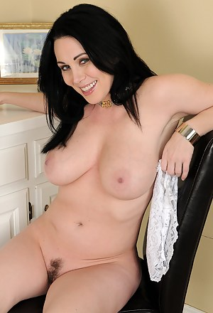 Sexy 38 year old RayVaness strips off her office gear and spreads