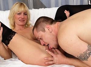 This blonde mature slut loves the cock