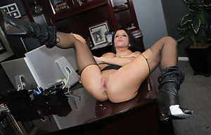Romi Rain can't seem to escape, she's running through the woods, but the night watchman is on her trail. By using his pussy eating abilities, and cock in her mouth, she finally gives in.