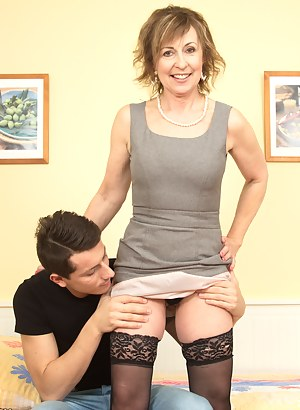 This cockhungry housewife needs to get herself some action