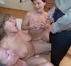 pissing foursome