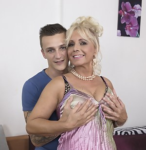 Horny Mature is teaching her young lover