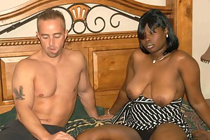Interracial intercourse features a chubby girl with big saggy tits who gets pounded hardcore in doggy style after a deepthroat blowjob.
