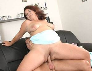 This dude get's wild on his mature big titty lover