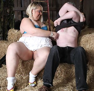 I went to a new studio for a shoot, it had a barn layout with sadles and bales of hay.I had not been in a barn for some