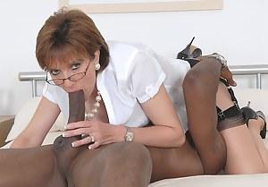 Lady Sonia is definitely a black cock slut