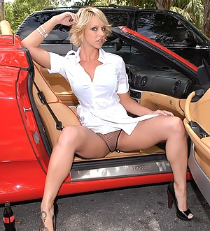 Rough man is showing his big red car to this slutty woman. She is taking off her panties immediately and letting him fuck her hard.