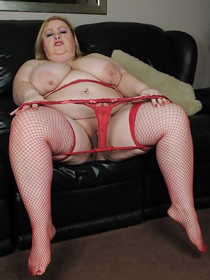 BBW getting naked and dirty