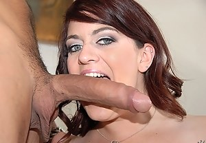 Awesome lady wearing black clothes is getting naked and riding big penis. Her partner is getting presented with blowjob before penetration.