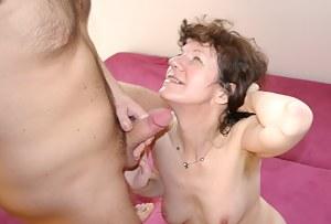 See this hairy mature slut enjoy a good fuck