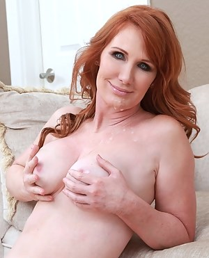 Young man is enjoying extremely wild sex with this sensational redhead slut. He is feeding her with his cock and sperm with pleasure.