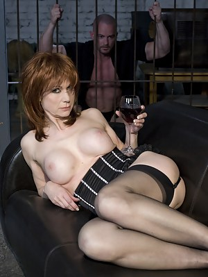 Horny readhead German milf fucked hard in jail by huge cock