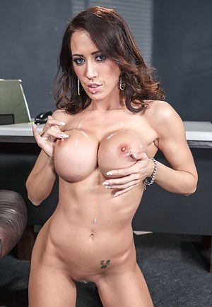It's your casual office get-together with people just eating cake and whatnot. Capri shows up and starts blowing this dude's cock in plain view.
